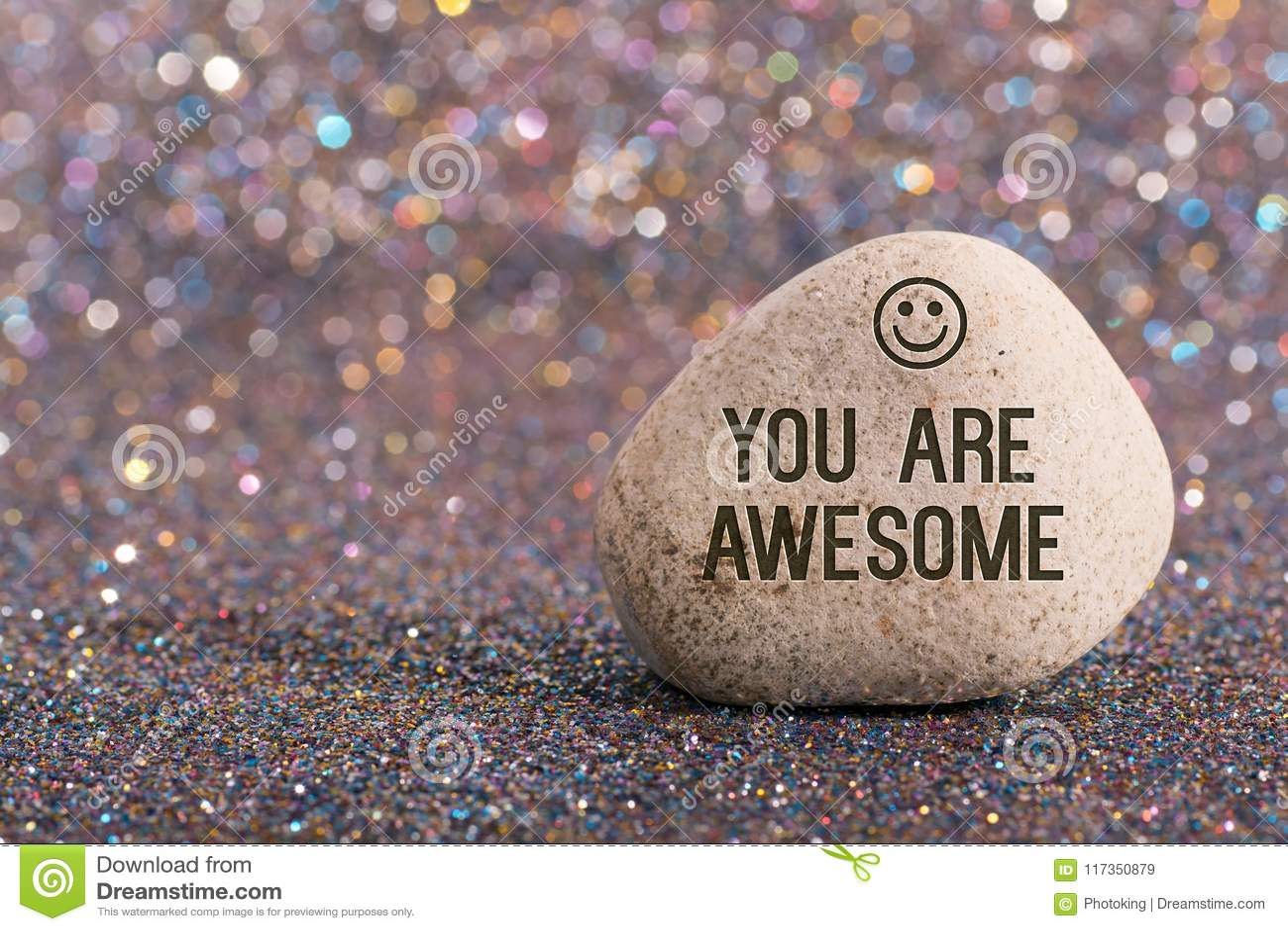 U bent ontzagwekkend op steen