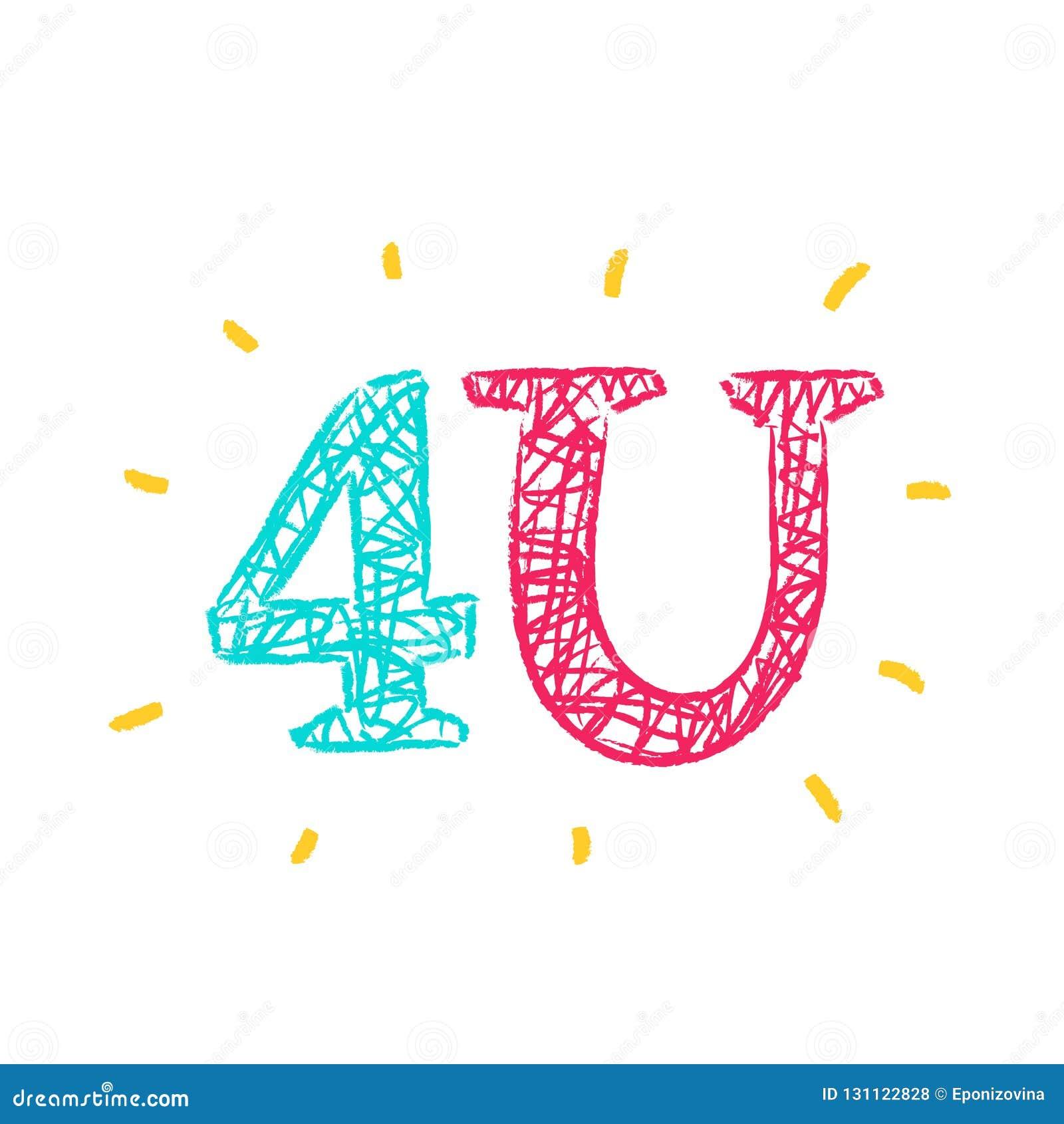 4U especial para você - simples inspire e citações inspiradores Rotulação tirada mão Cópia para o cartaz inspirado,