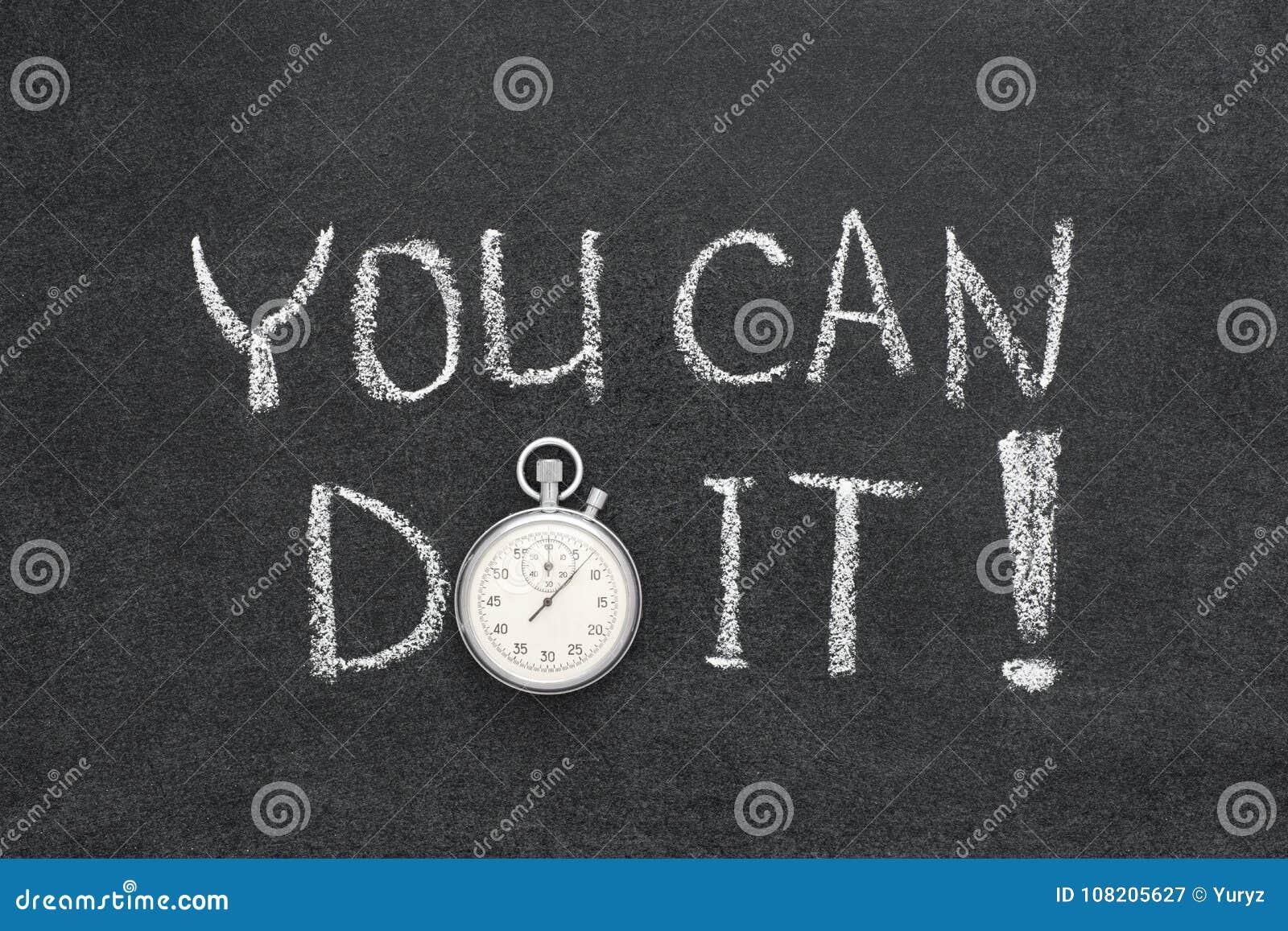 U kunt het doen