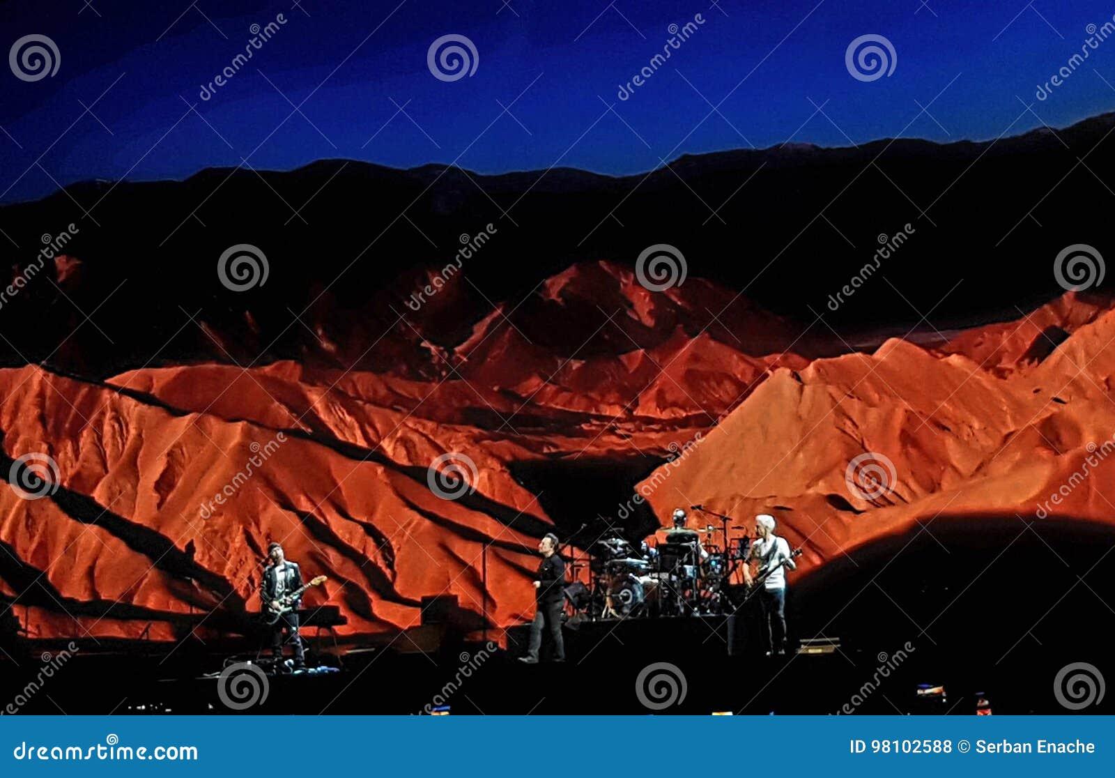 U2 live editorial stock photo  Image of landscape