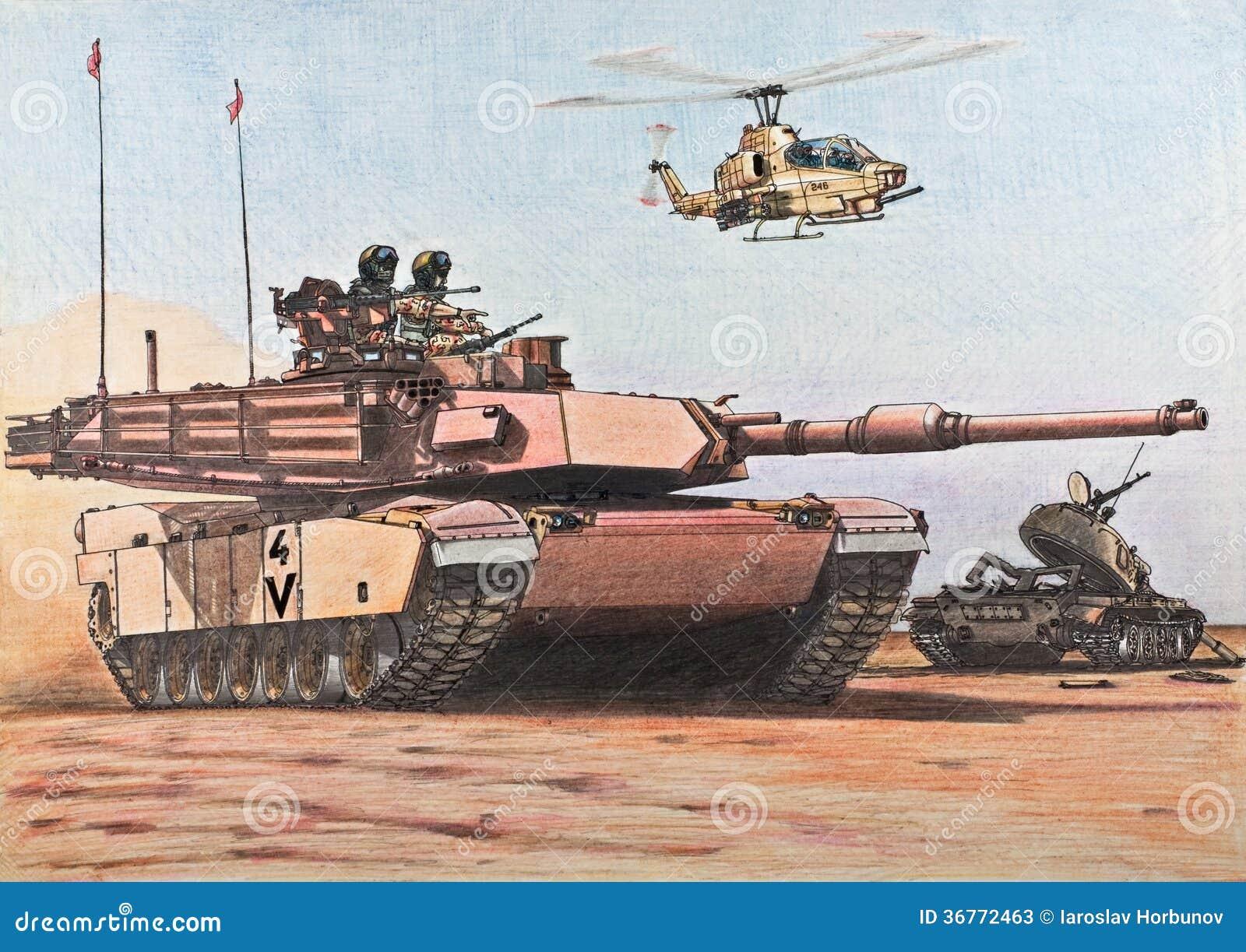 U S  Abrams tank passes a  M1 Abrams Tank Drawing