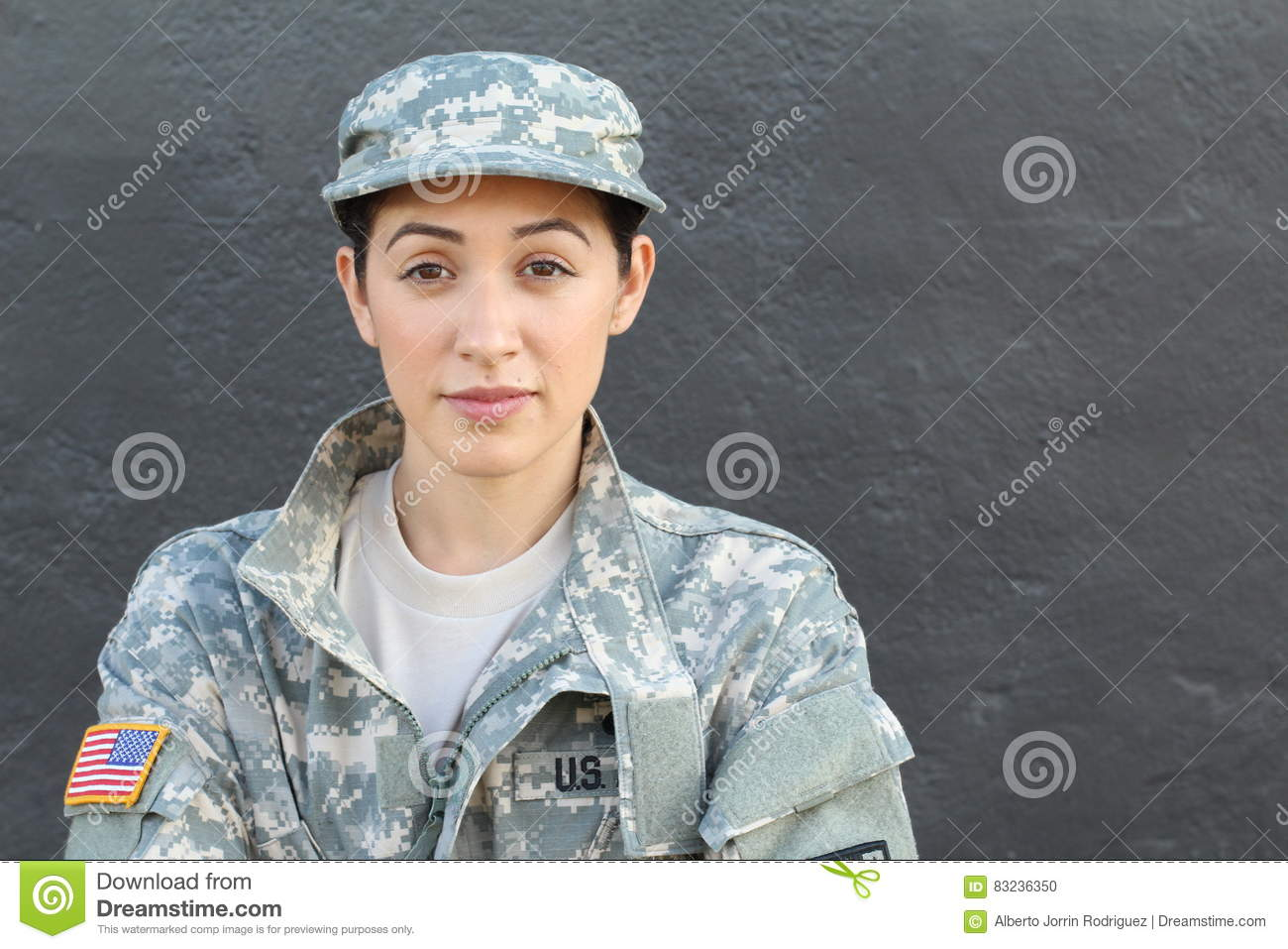 U.S. Army Soldier, Sergeant. Isolated close up showing stress, PTSD or sadness