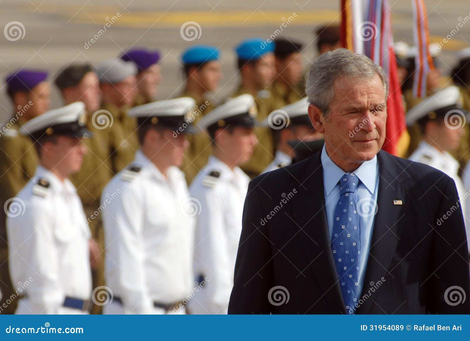U.S. Besuch Präsidenten George W. Bush nach Israel
