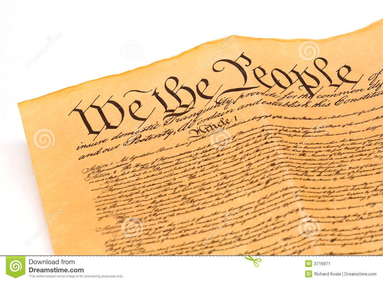 Constitution - We The People Stock Image - Image: 3716971