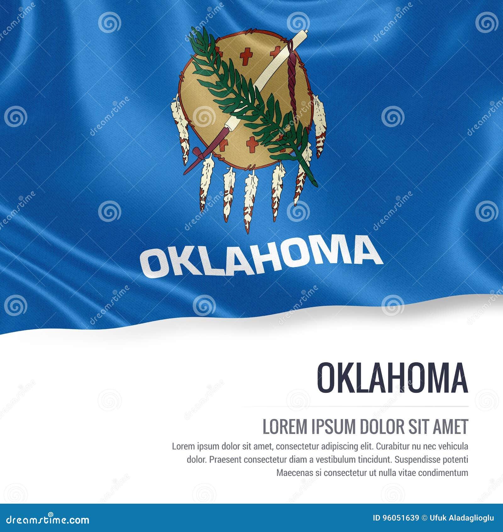 U S drapeau de l Oklahoma d état