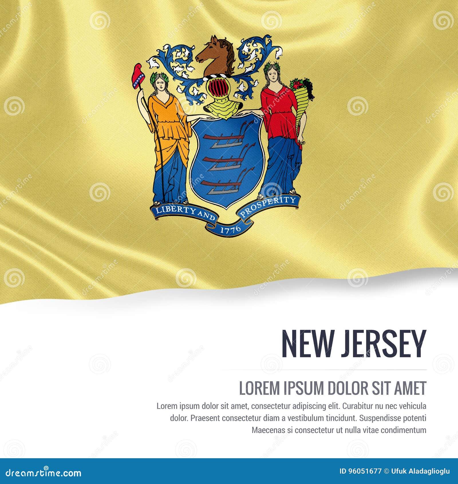 U S drapeau de New Jersey d état