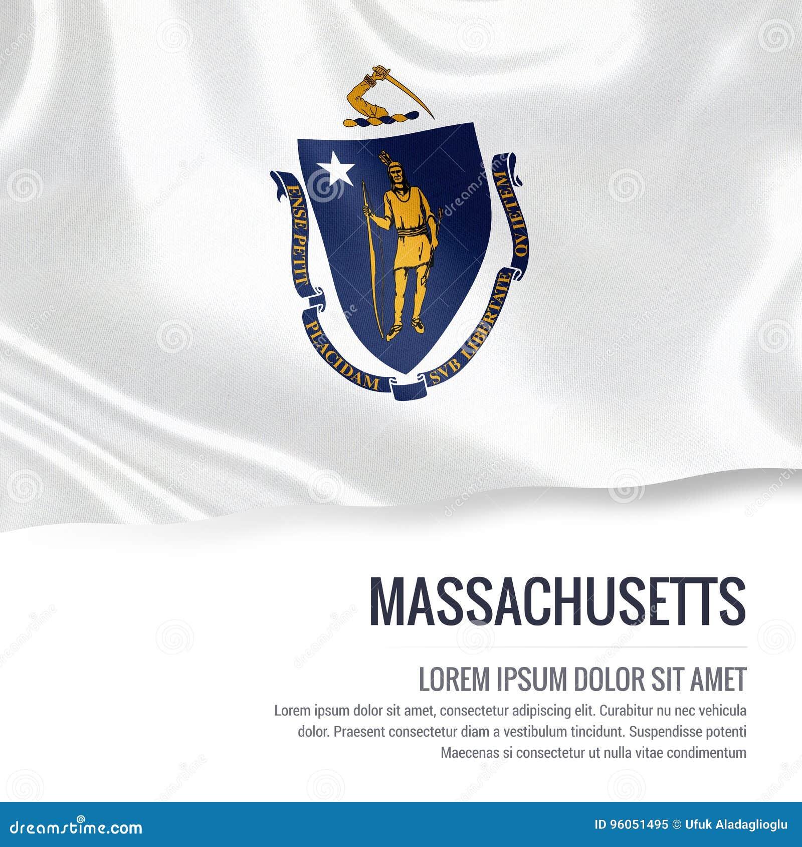 U S drapeau du Massachusetts d état