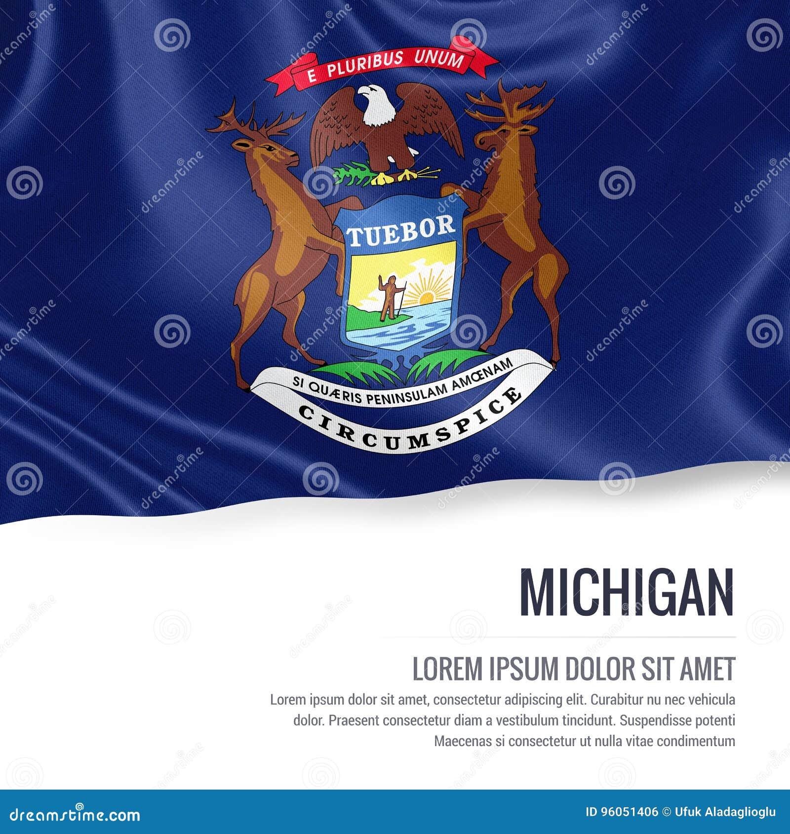U S drapeau du Michigan d état