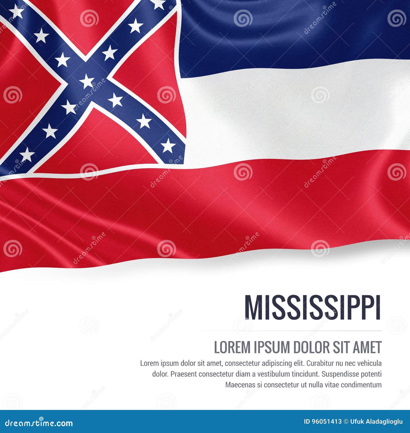 U S drapeau du Mississippi d état