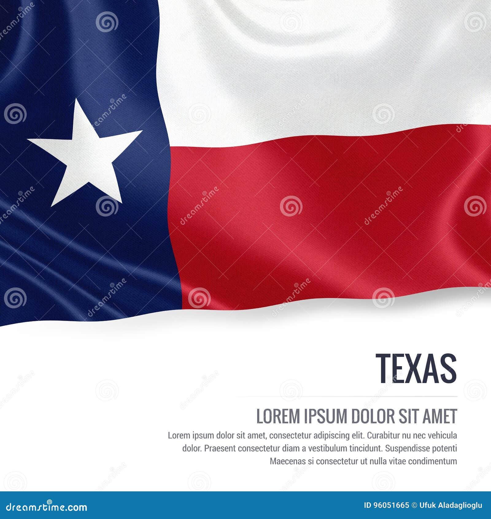U S drapeau du Texas d état
