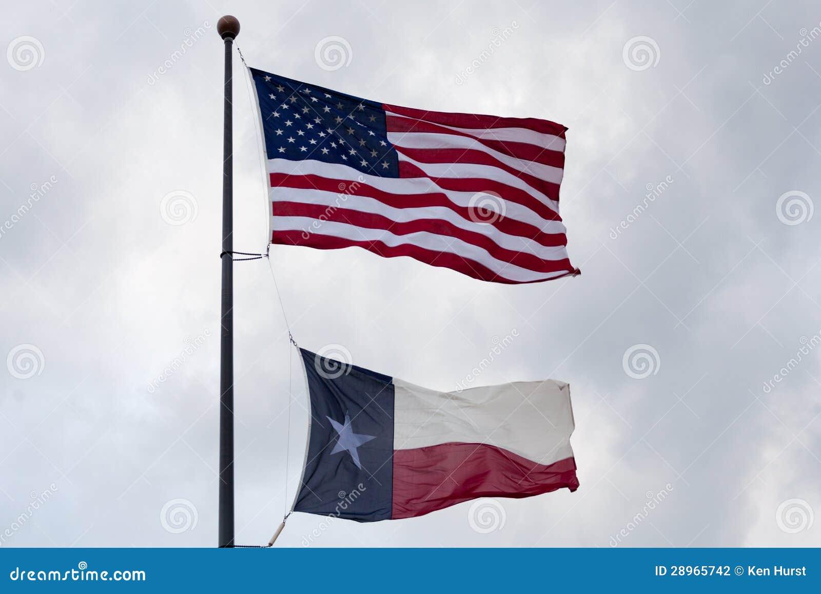 U.S.A. e bandiera dello stato del Texas
