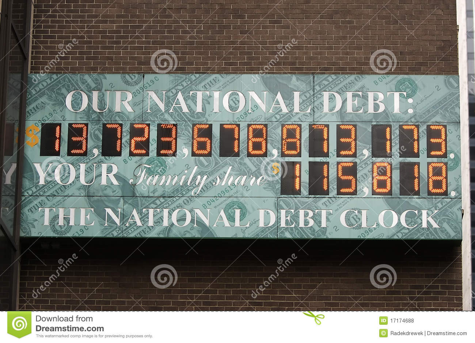 U.S. Horloge de dette nationale