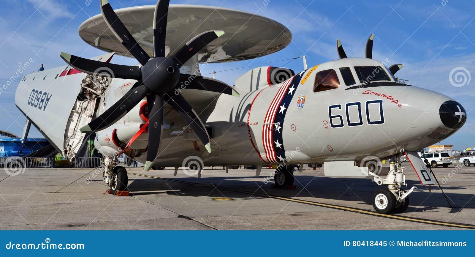 U S Marine e-2 Hawkeye-Vliegtuig