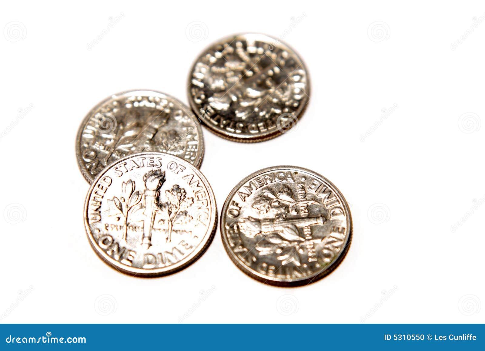 Download U.S. Monete Da Dieci Centesimi Di Dollaro Fotografia Stock - Immagine di finanza, ricchezza: 5310550