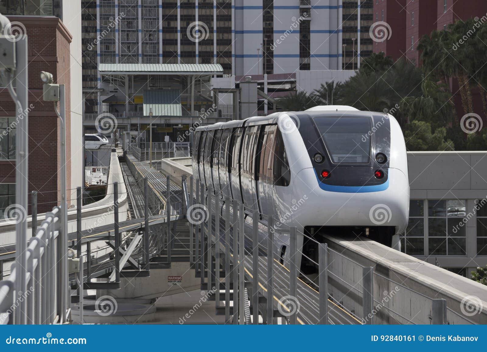 U.S.A. - Monor automatico Driverless della monorotaia train4-cars del Nevada - Las Vegas