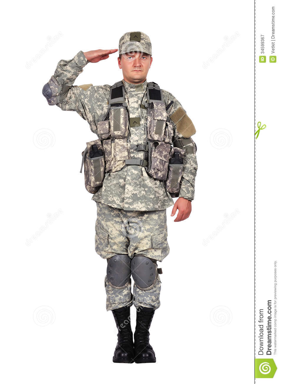 Soldier Salutes Royalty Free Stock Photography - Image: 34599367