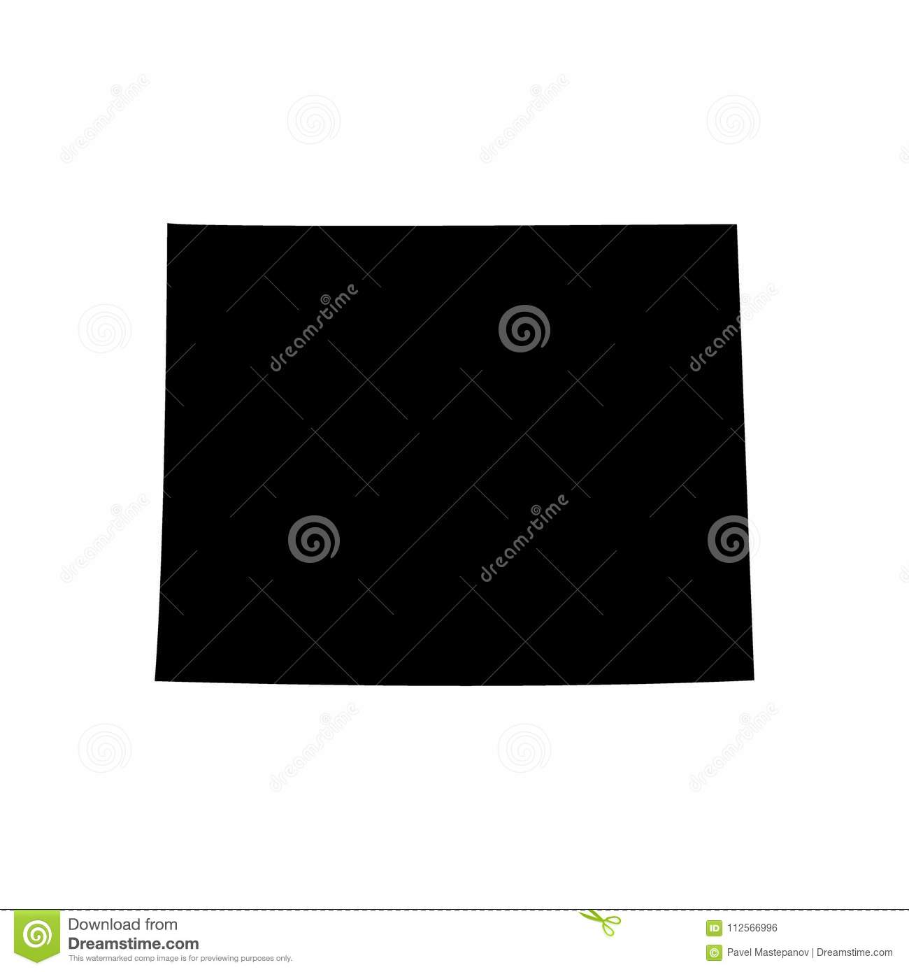 Us Map Picture Frame.U S State On The U S Map Wyoming Stock Vector Illustration Of