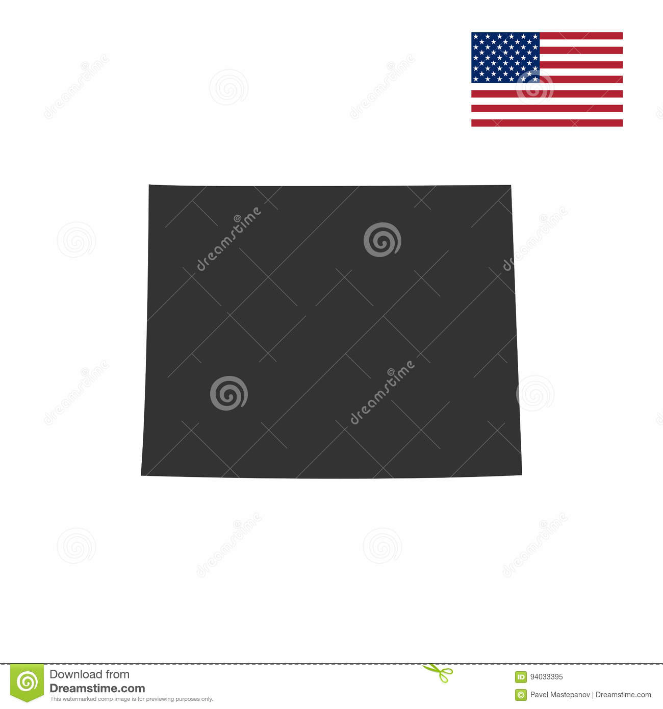 US State On The US Map Wyoming Stock Vector Image - Us map wyoming