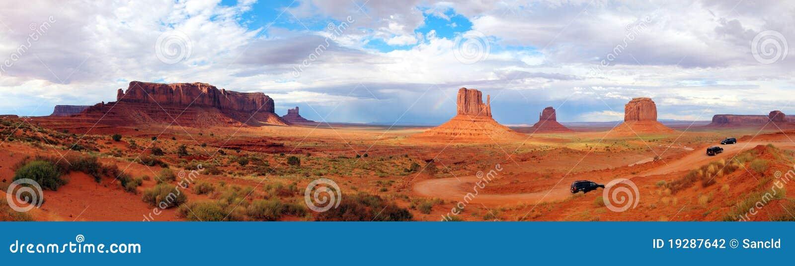 U.S.A. Vale o Arizona Utá do monumento do panorama