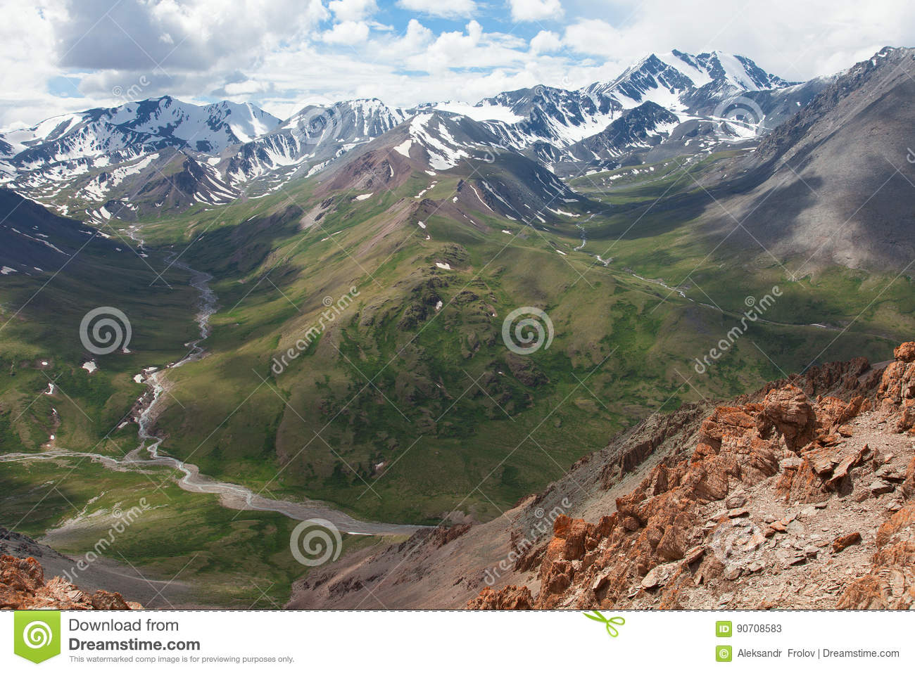 U-shaped valley stock image  Image of rock, river, glacial