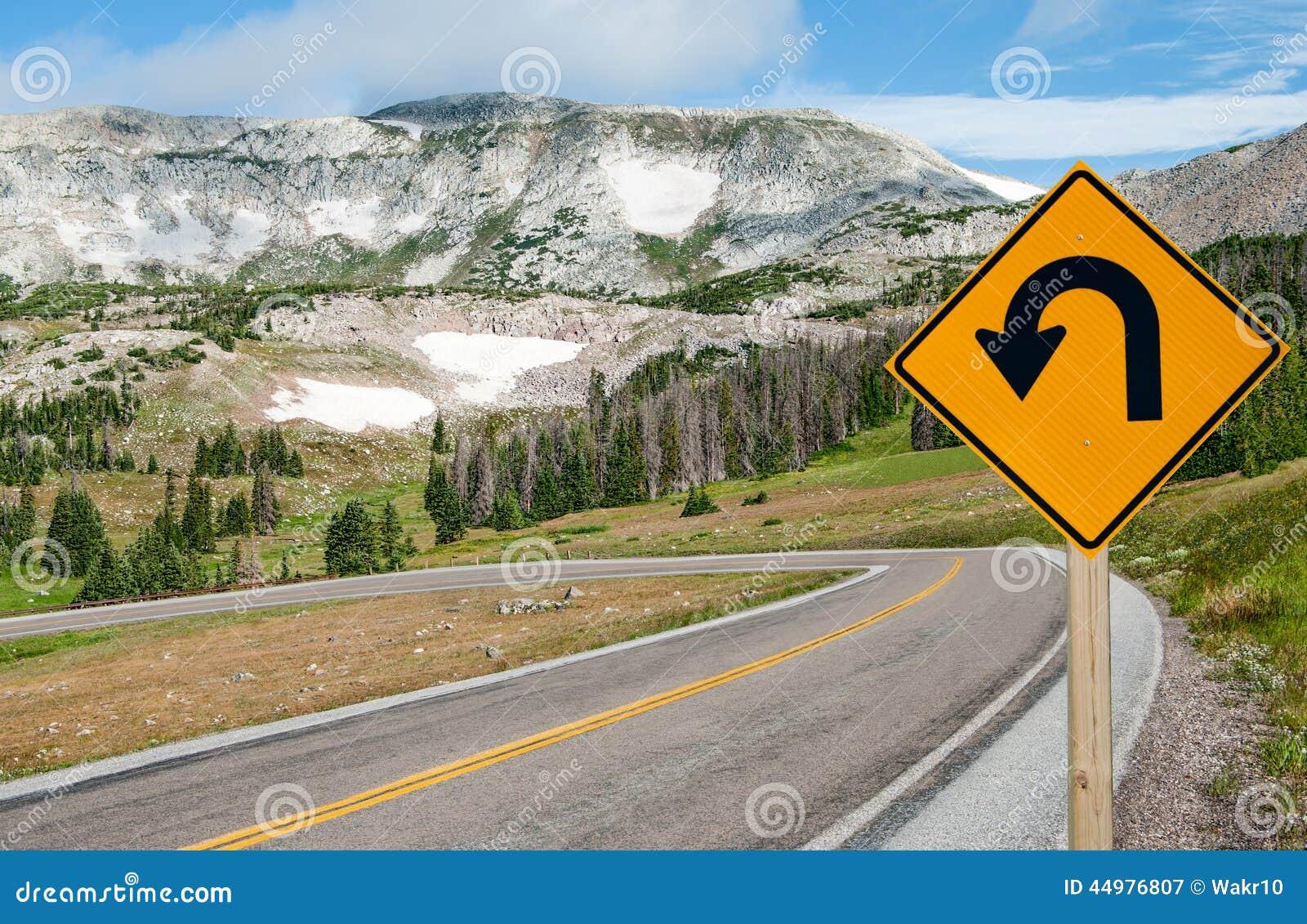 Turn around sign stock image image 35488961 - Royalty Free Stock Photo