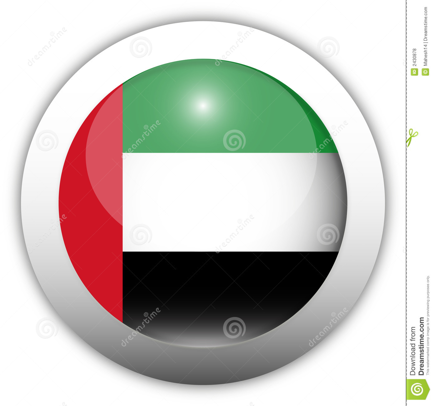 Uae Flag Aqua Button Royalty Free Stock Photos Image