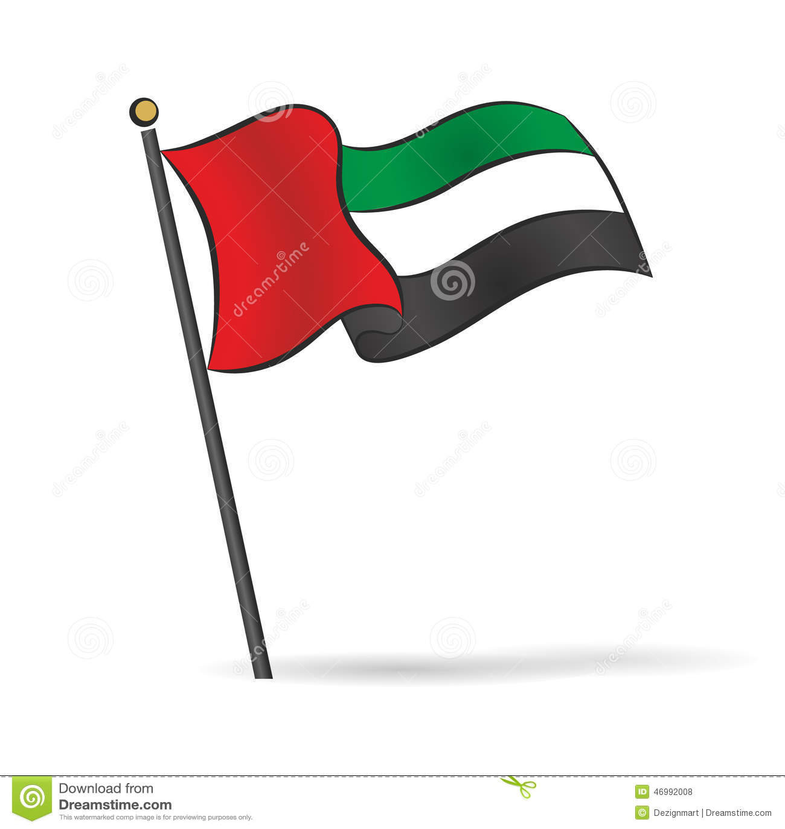 UAE Flag Waving On The...