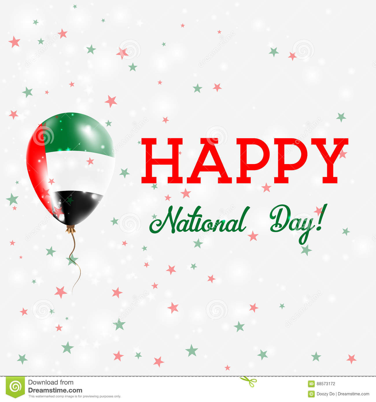 Uae National Day Patriotic Poster Stock Vector Illustration Of
