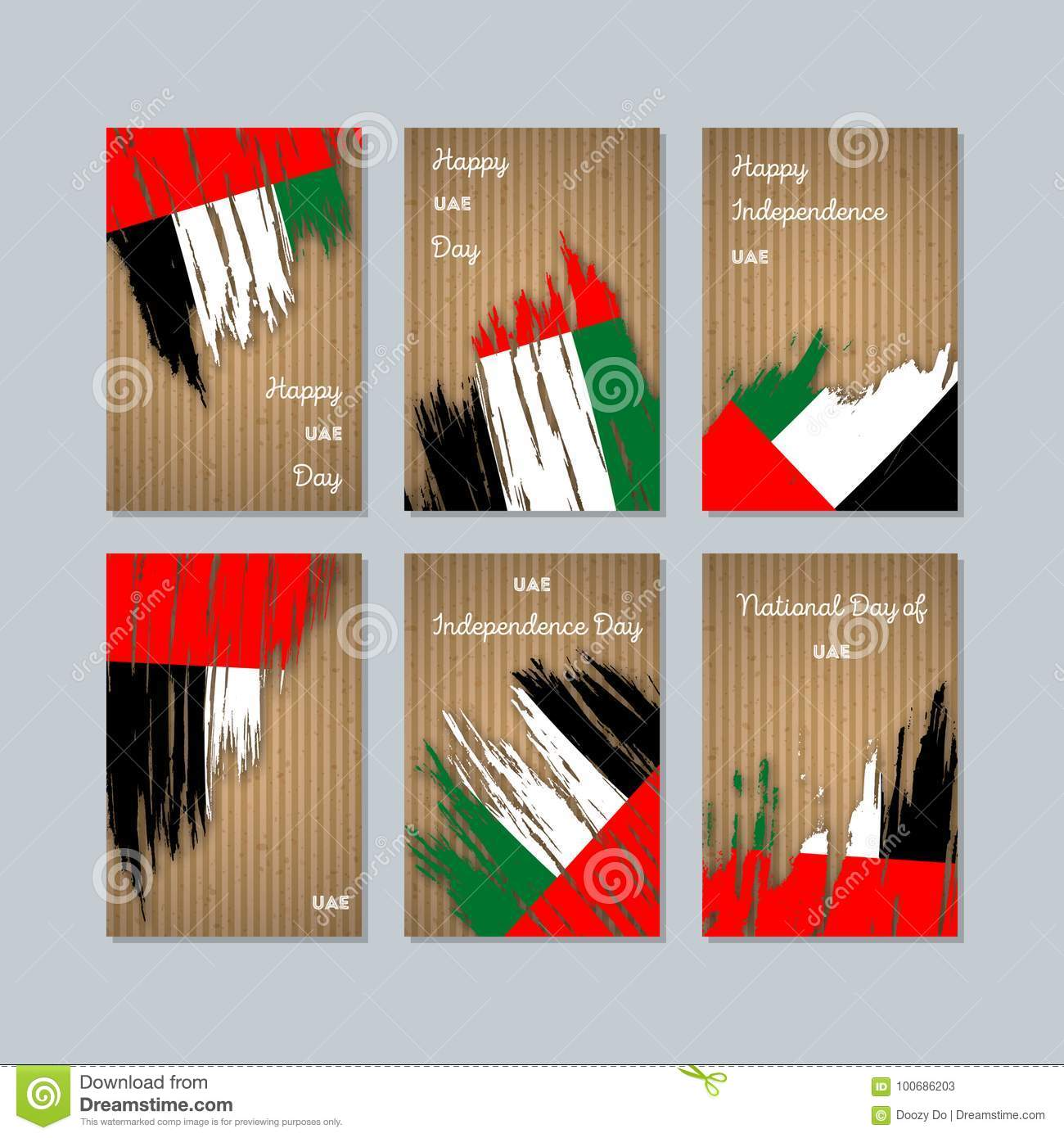Uae patriotic cards for national day stock vector illustration of uae patriotic cards for national day m4hsunfo