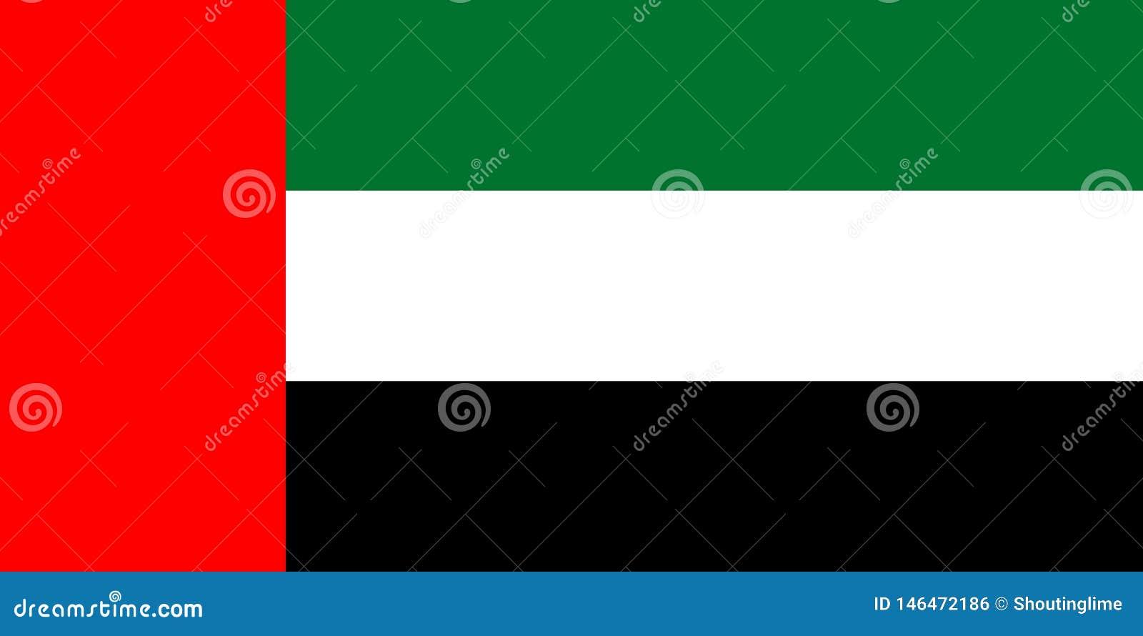 UAE sjunker trycket för vektorisolatbanret framlänges