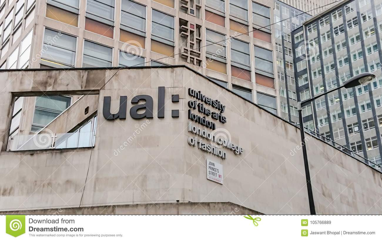 Ual London College Of Fashion Editorial Stock Image Image Of Britain City 105766889