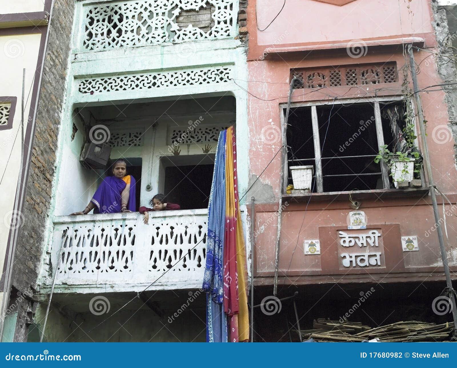 Ubóstwo - Slamsy Budynki mieszkalne w Udaipur - India