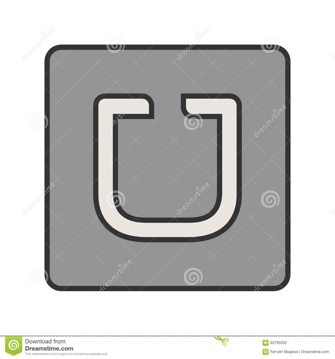 Uber Stock Vector Illustration Of Ride Icon Global 83795202