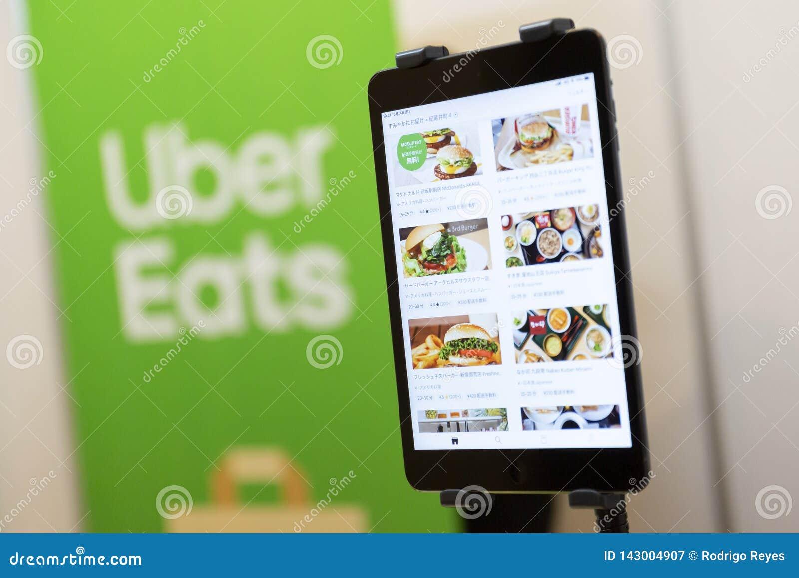 Uber mange le menu d appli