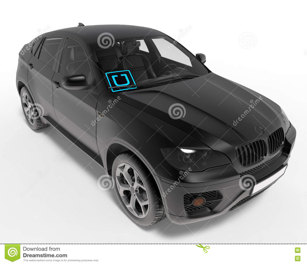 UBER SELECT Ride Share Illustration Editorial Stock Photo