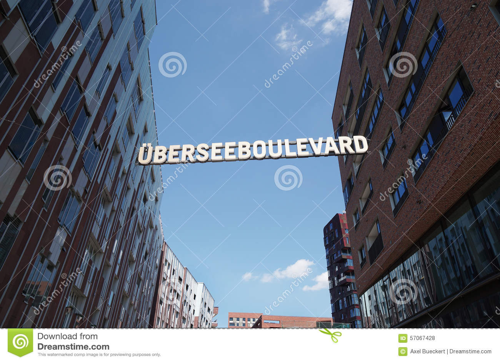 Uberseeboulevard in Hamburg Duitsland