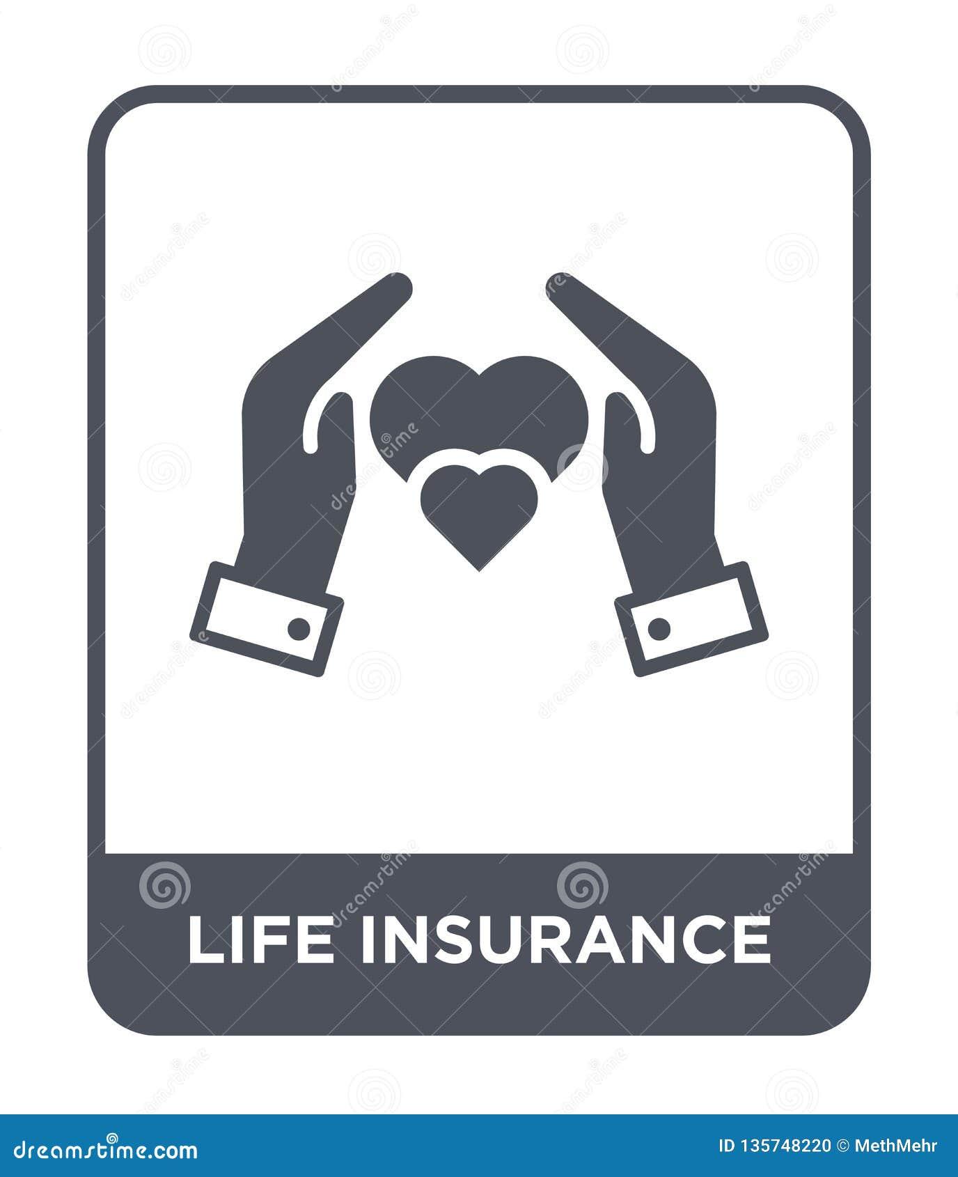 Ubezpieczenie na życie ikona w modnym projekta stylu Ubezpieczenie na życie ikona odizolowywająca na białym tle ubezpieczenie na
