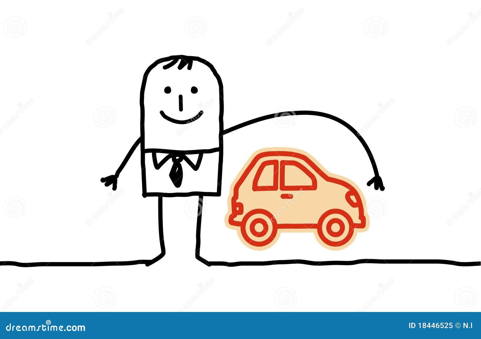 Ubezpieczenie samochodu mężczyzna