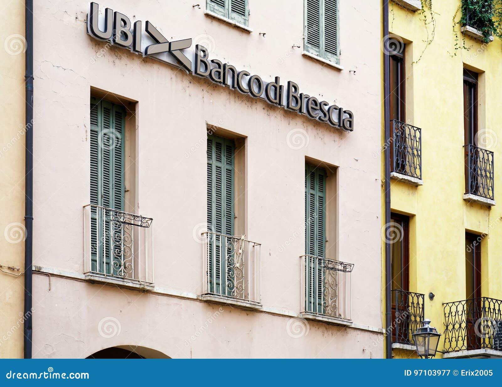 UBI Banca di Brescia entrance in Mantua