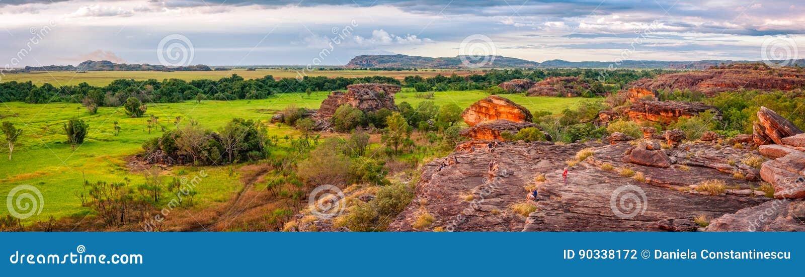 Ubirr Rock panorama at sunset -Northern Territory, Australia