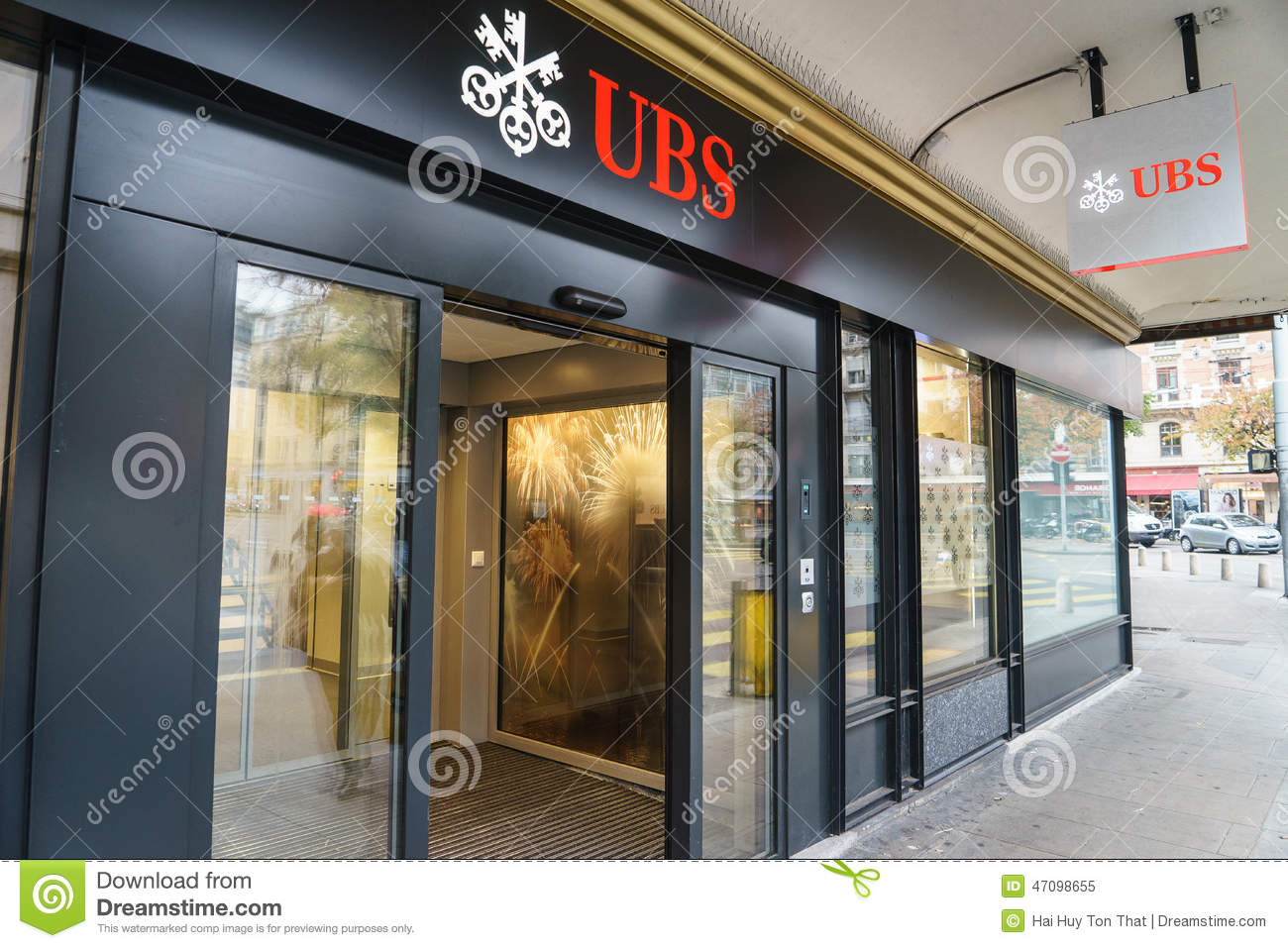 Ubs Bank Editorial Image Image 47098655
