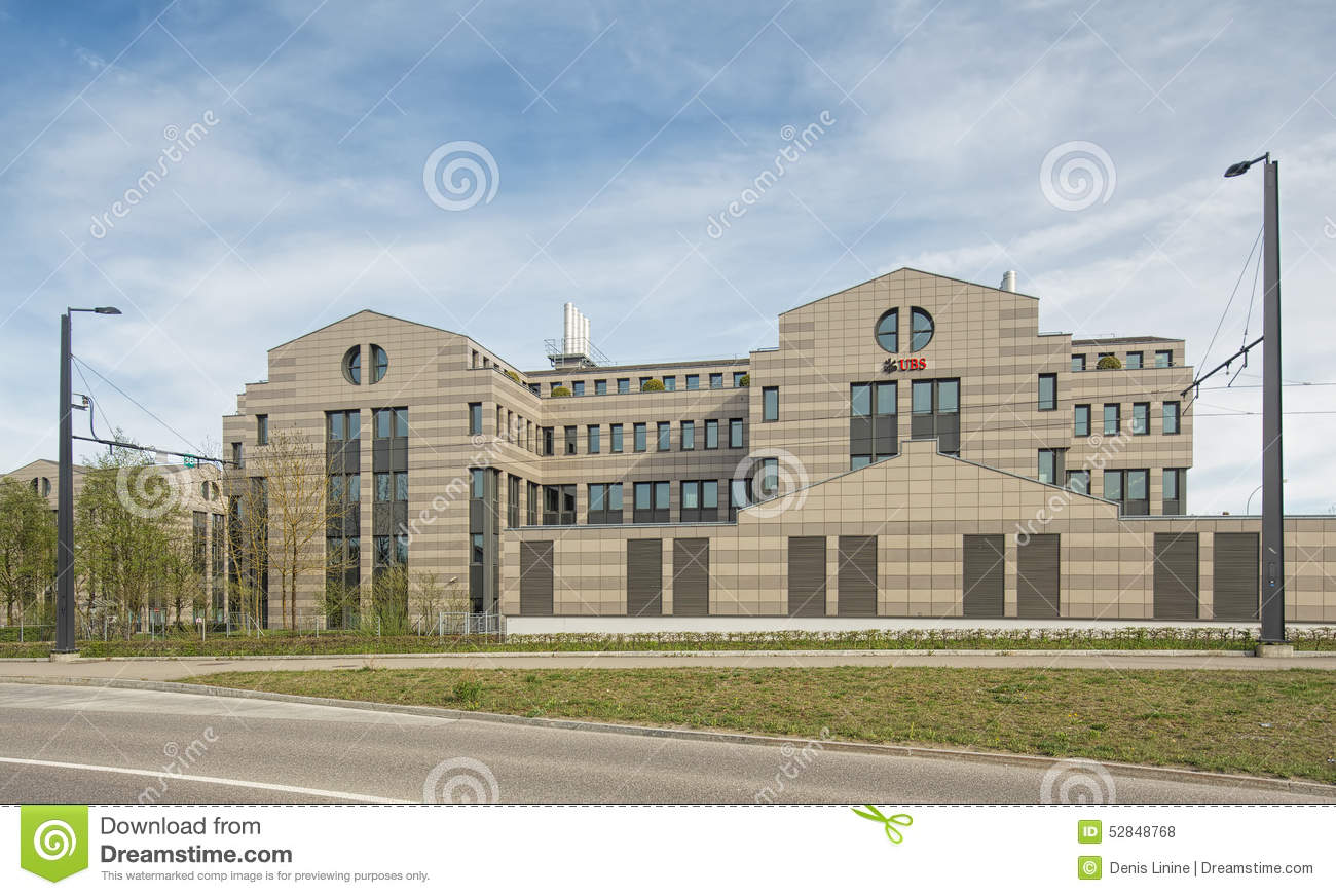UBS building in Glattbrugg editorial stock photo  Image of