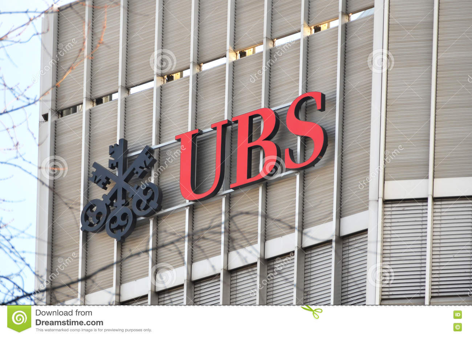UBS, Switzerland`s Largest Bank Editorial Stock Photo