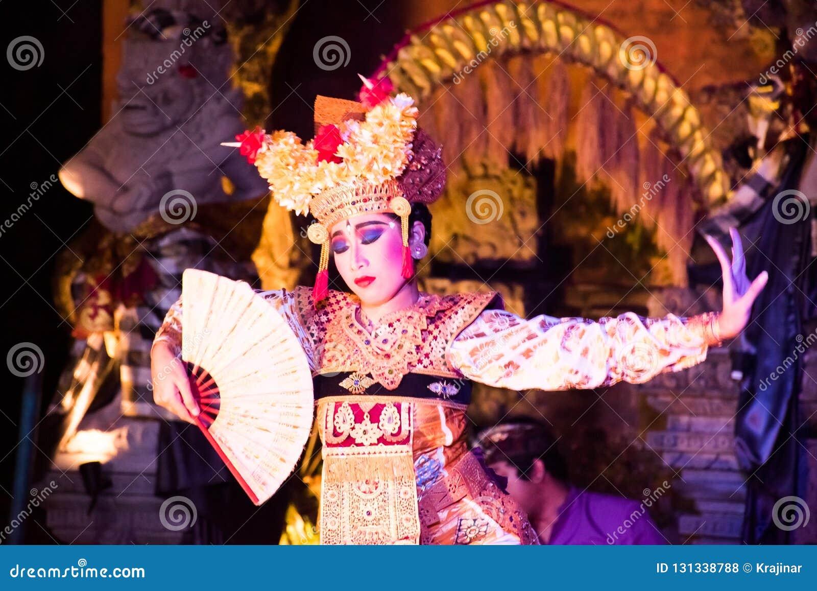 UBUD, BALI, INDONESIA - APRIL, 19: Legong traditional Balinese d