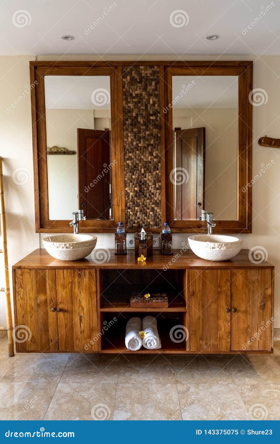 Ubud Bali Indonesia January 2019 Luxury Hotel Bathroom