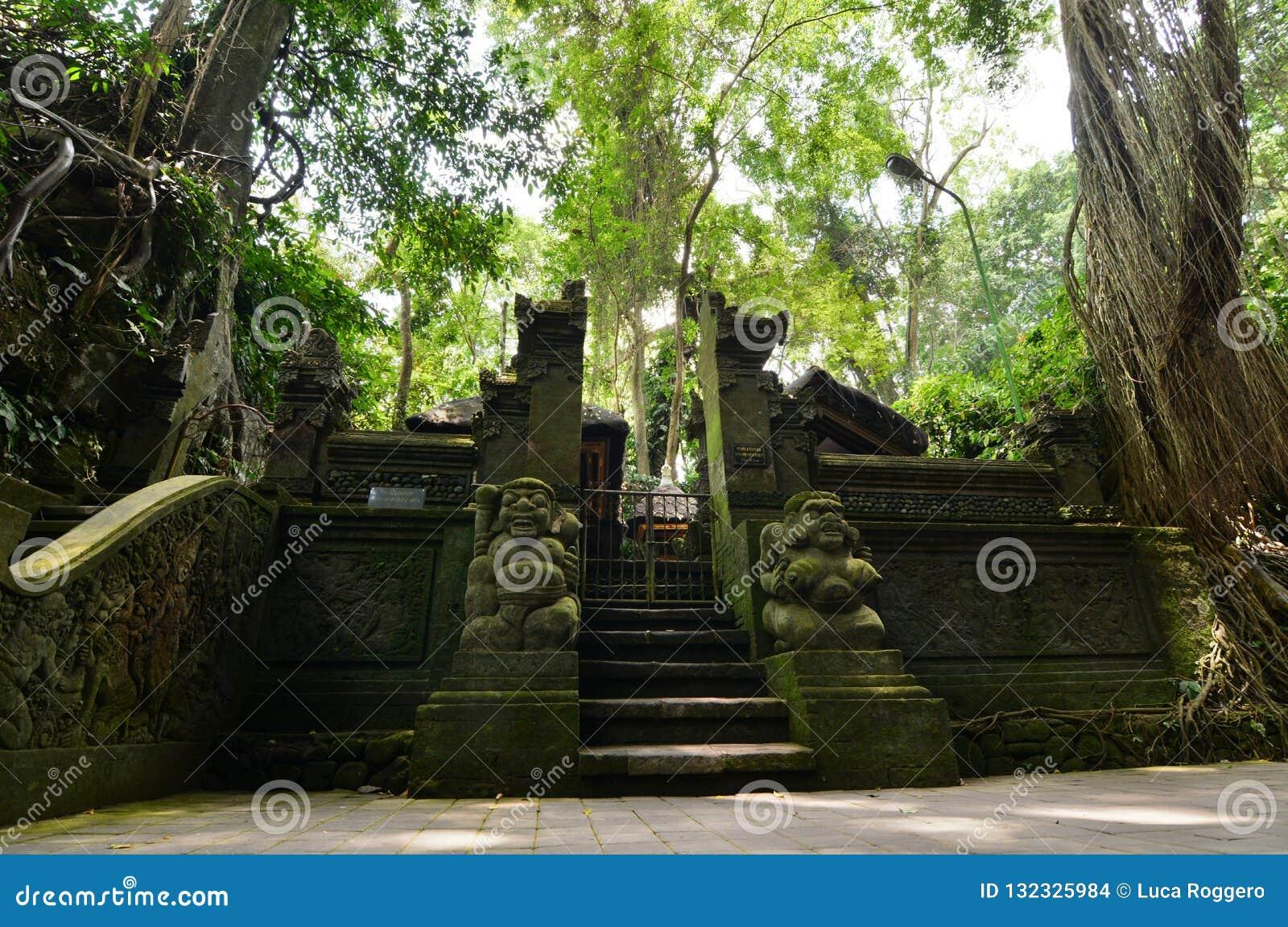 Pura Beji The Temple Of Holy Spring Monkey Forest Padangtegal Village Ubud Bali Indonesia Stock Photo Image Of Holy Green 132325984