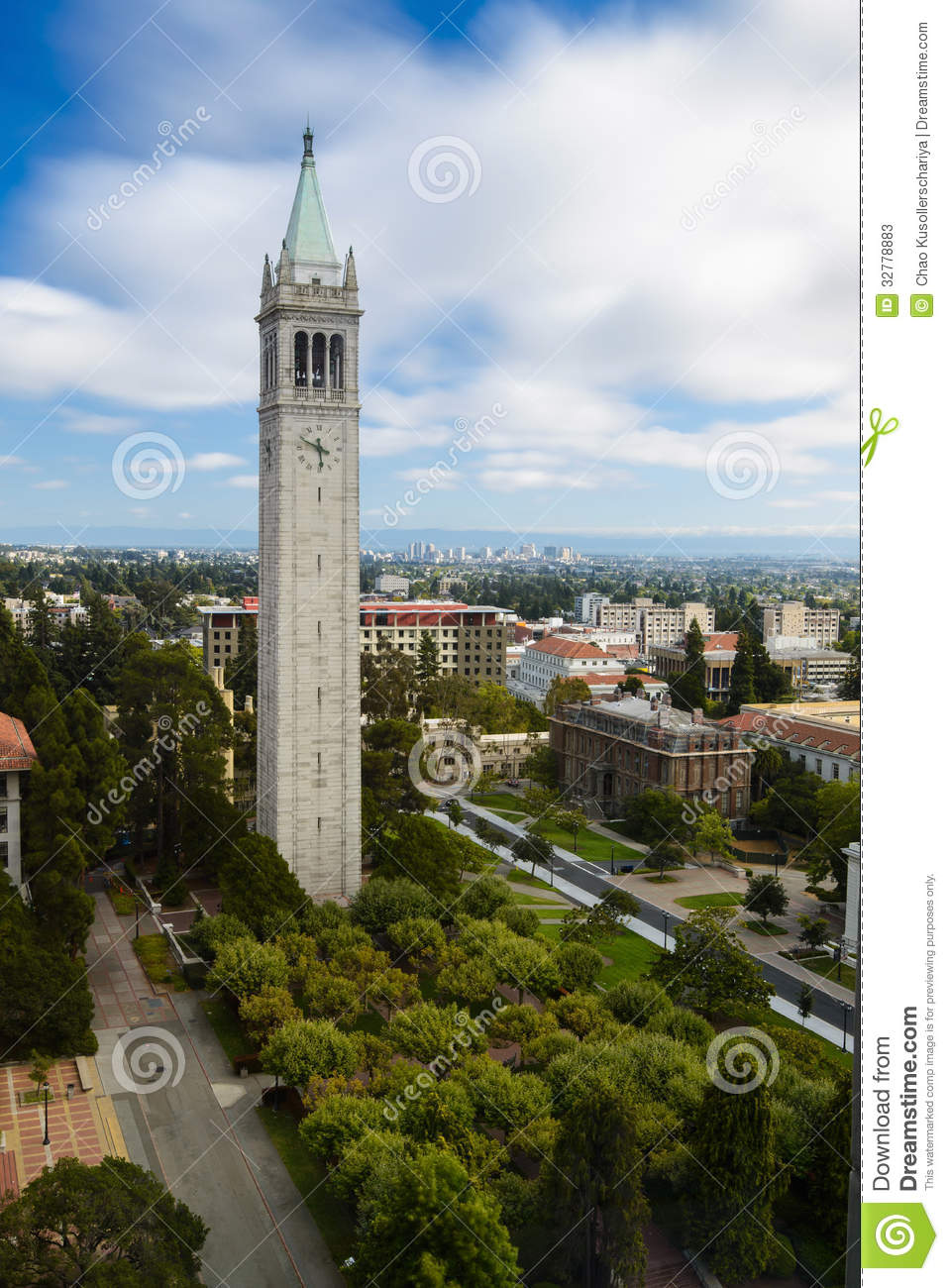 Oakland University Map >> UC Berkeley Campanile Esplanade Stock Photos - Image: 32778883