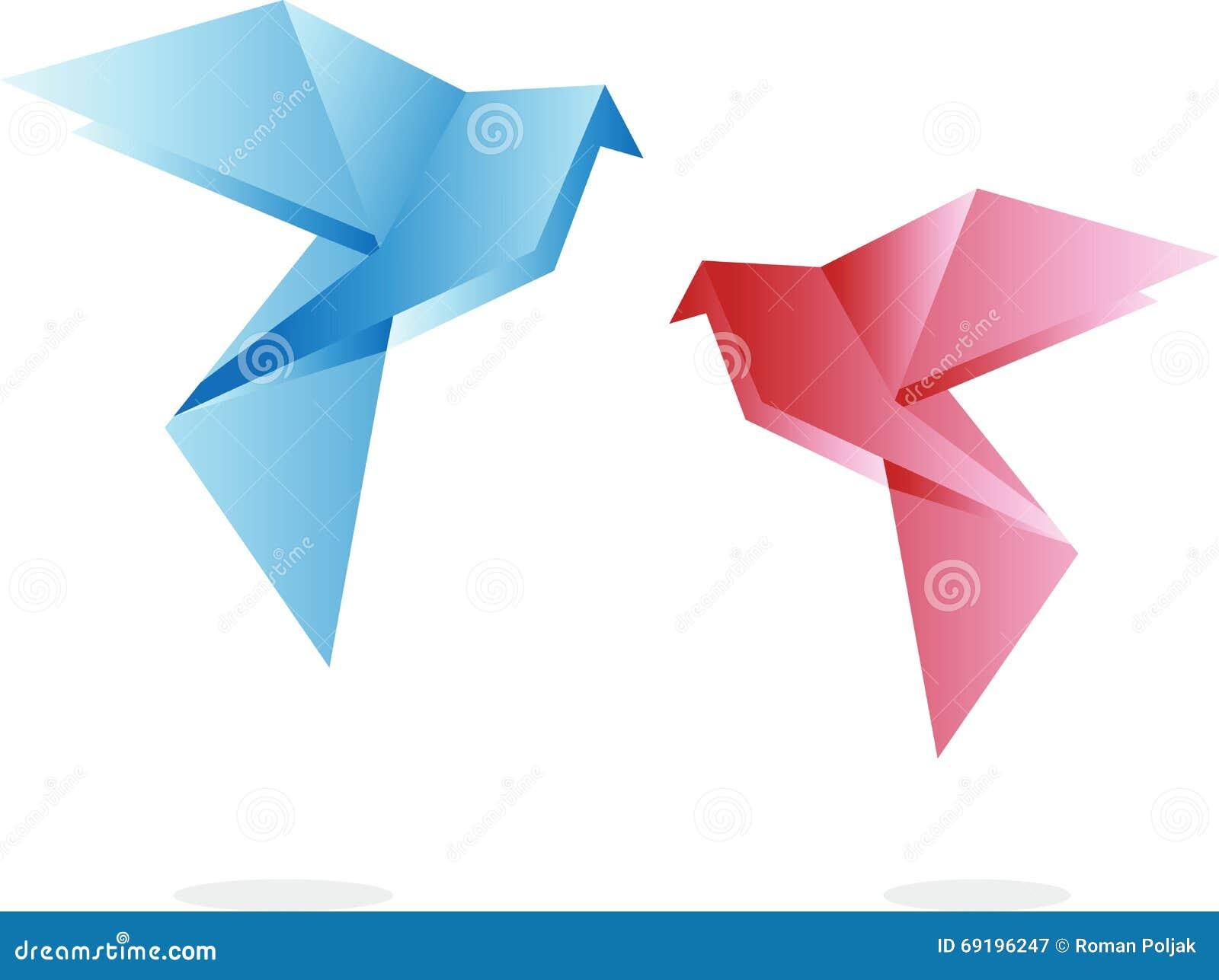 Vettoriale Di Origami Uccelli Uccelli Illustrazione Di qSzVUMp