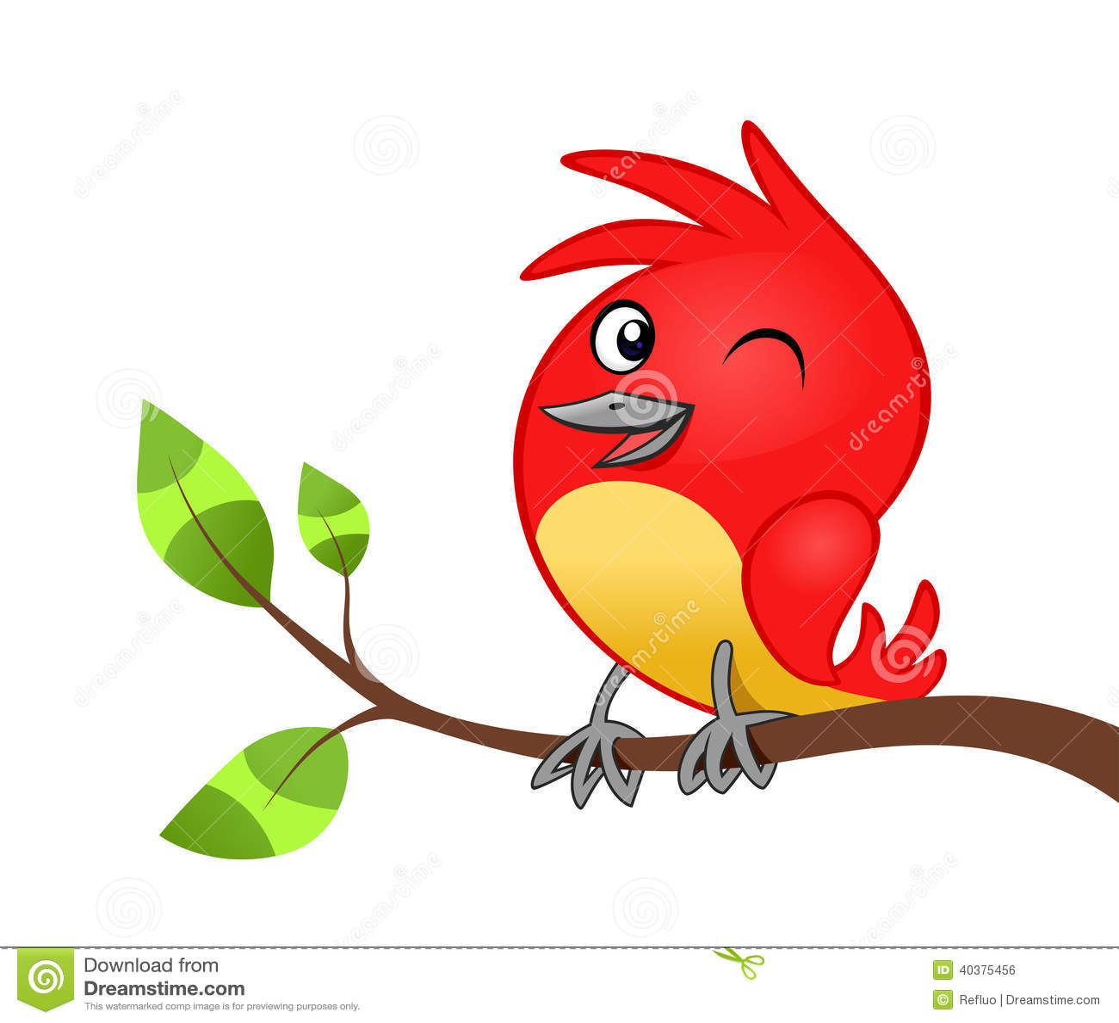 Uccellino sul ramo di albero illustrazione vettoriale for Uccellino disegno