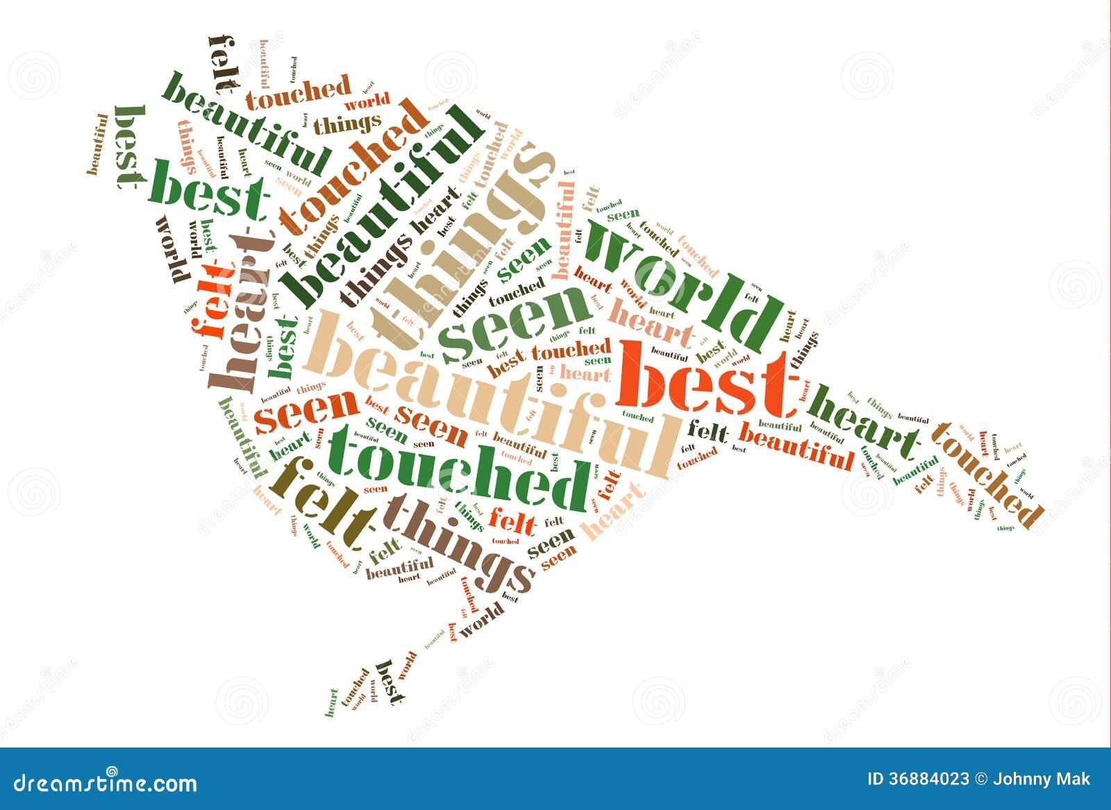 Download Uccello Con La Nuvola Di Parola Illustrazione di Stock - Illustrazione di cuore, uniforme: 36884023